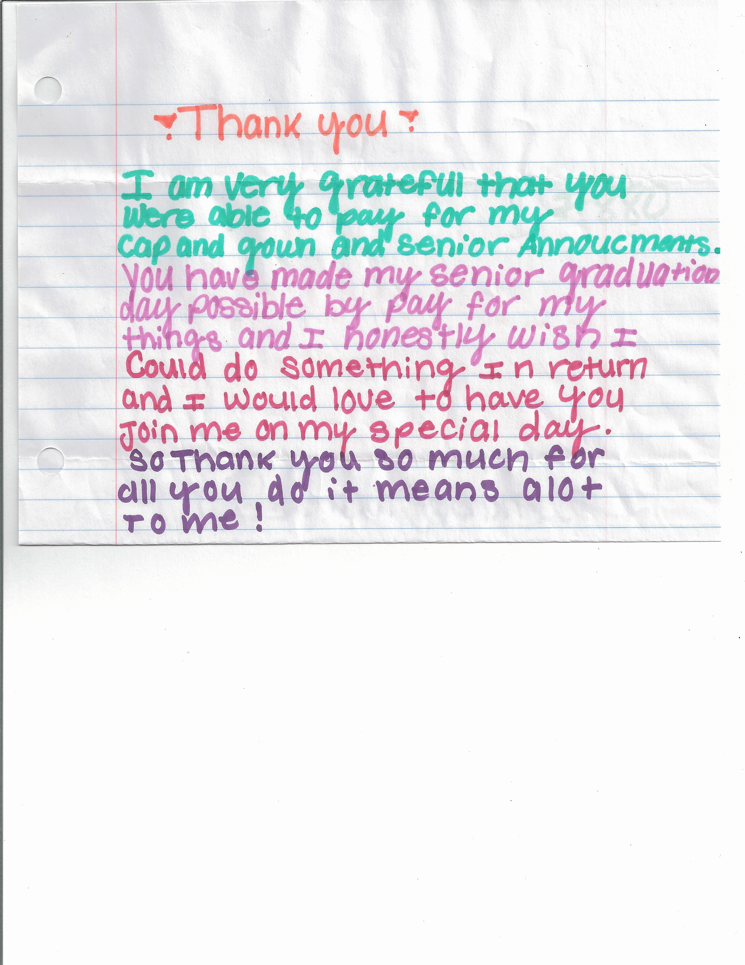 Graduation Thank You Notes Best Of Thank You Notes