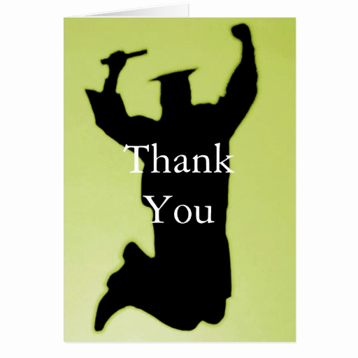 Graduation Thank You Notes Fresh Graduation Thank You Note Greeting Card