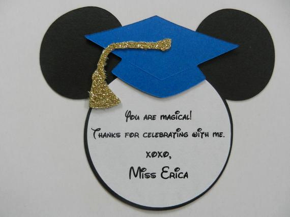 Graduation Thank You Notes Fresh Items Similar to Mickey Mouse Inspired Graduation Thank