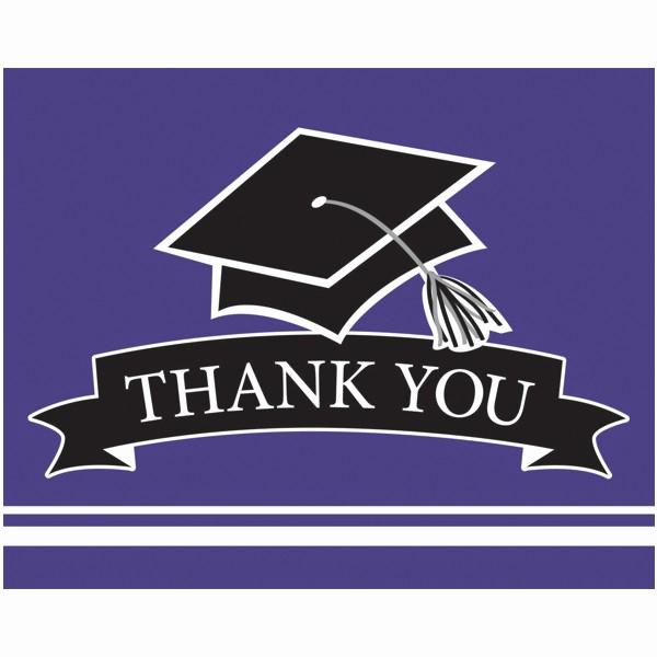 pd purple graduation party thank you notes 75ct m