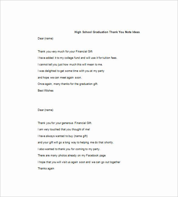 Graduation Thank You Notes Inspirational 15 Graduation Thank You Notes – Free Sample Example