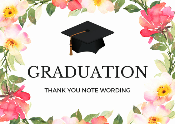 Graduation Thank You Notes Lovely Graduation Thank You Notes