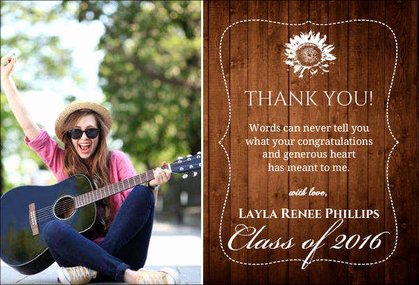 Graduation Thank You Notes Luxury Free Gift Cards