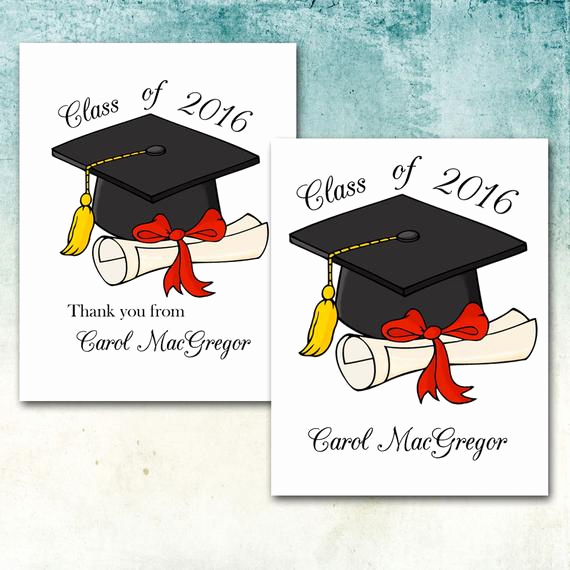 Graduation Thank You Notes Luxury Graduation Thank You Note Cards Personalized with by