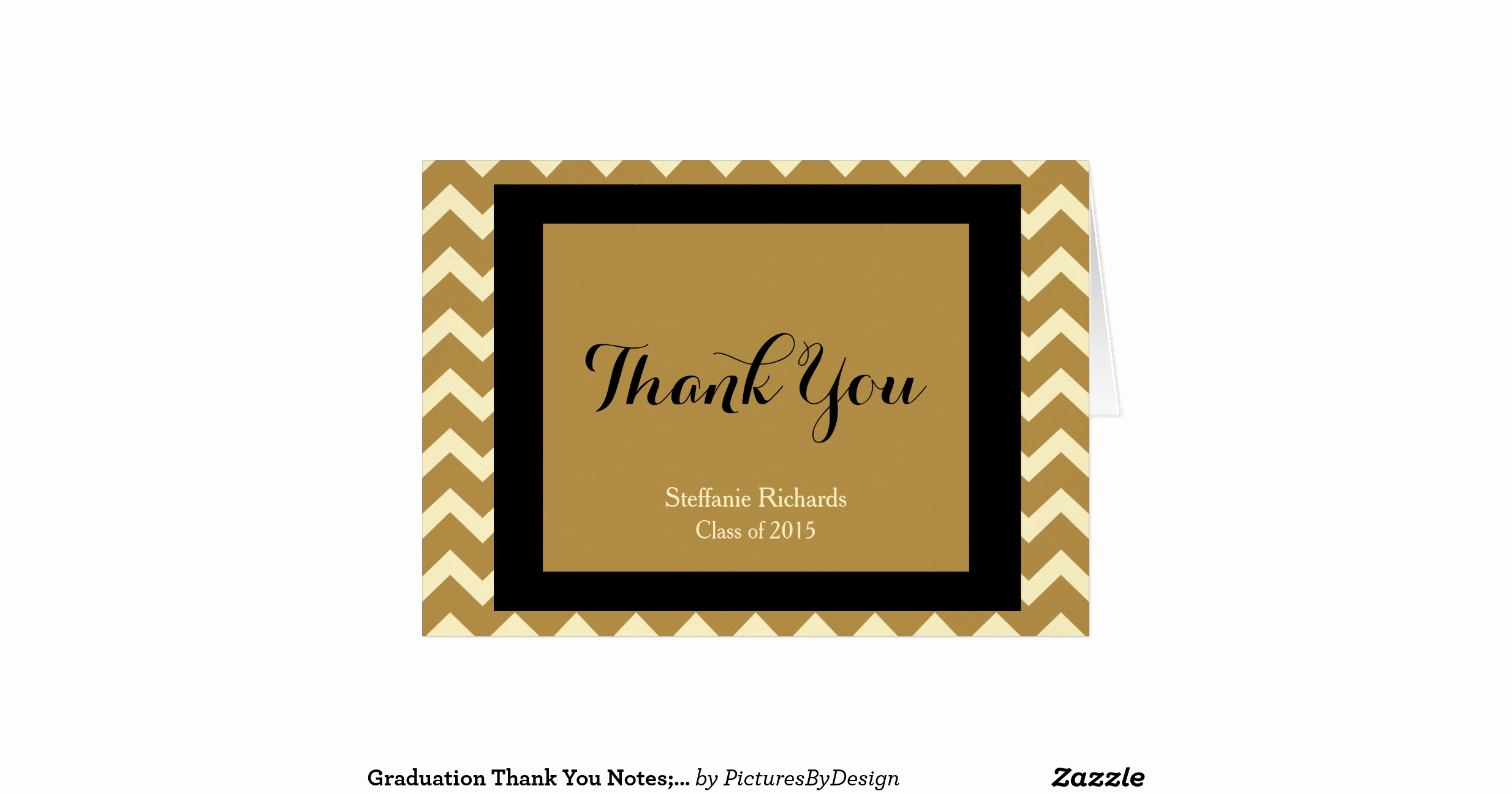 Graduation Thank You Notes New Graduation Thank You Notes Black Gold & Cream Greeting