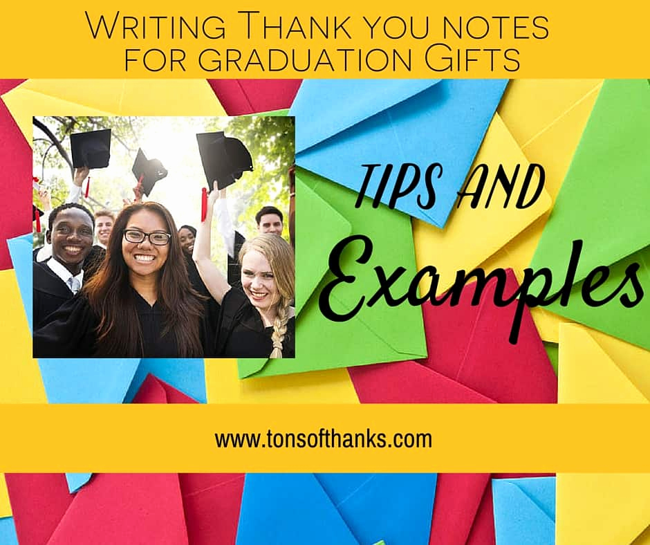 Graduation Thank You Notes New Thank You Note Examples for Graduation Ts with Tips and