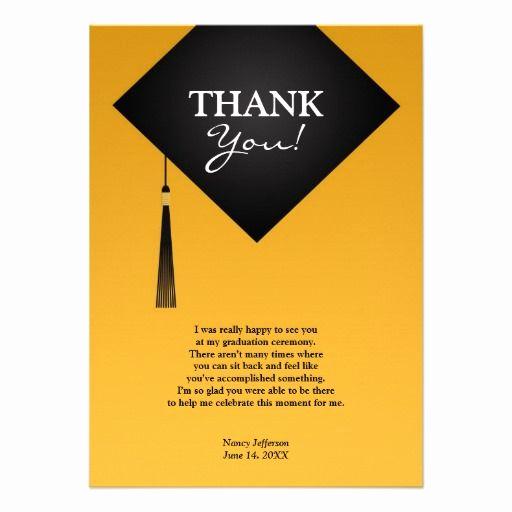 Graduation Thank You Notes Unique Best 25 Graduation Thank You Cards Ideas On Pinterest