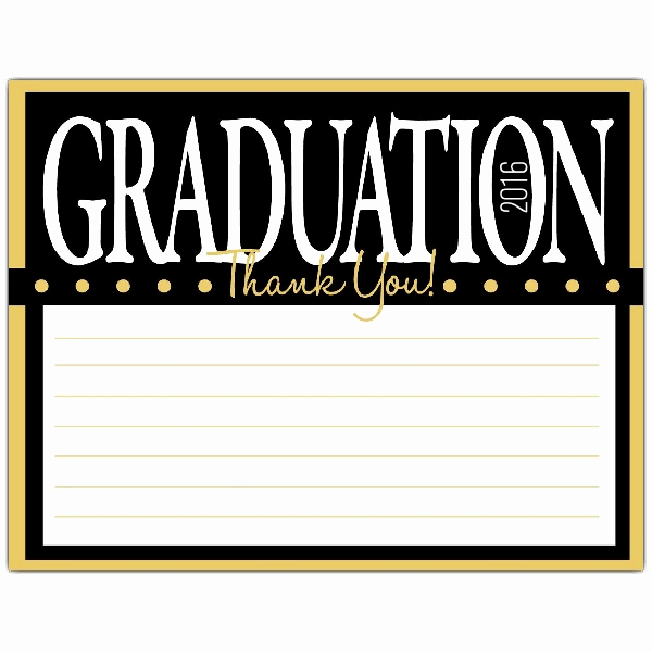 Graduation Thank You Notes Unique Yellow Graduation Thank You Notes