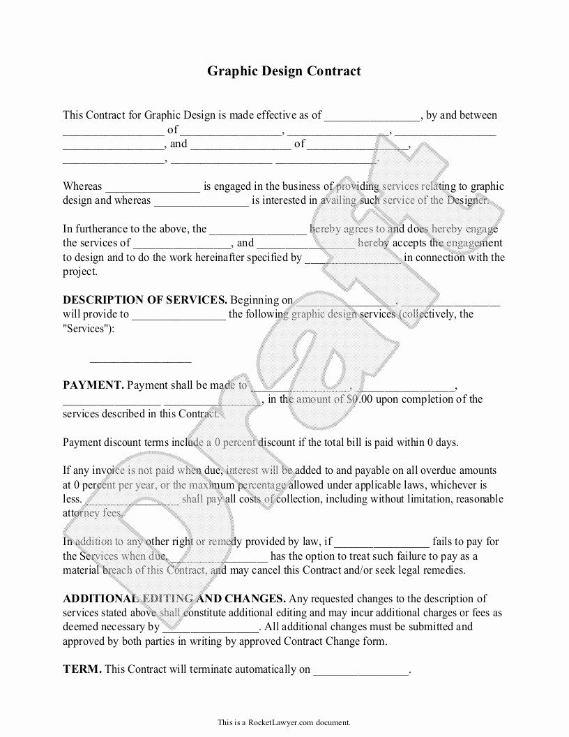 Graphic Design Contract Template Awesome Make A Quick Legal Doc for Contracting Quick