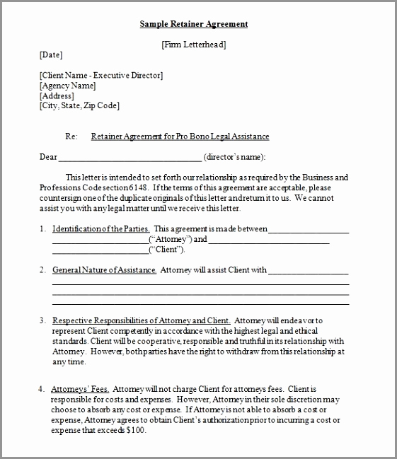 Graphic Design Contract Template Best Of 5 Consulting Retainer Agreement Template Iteep