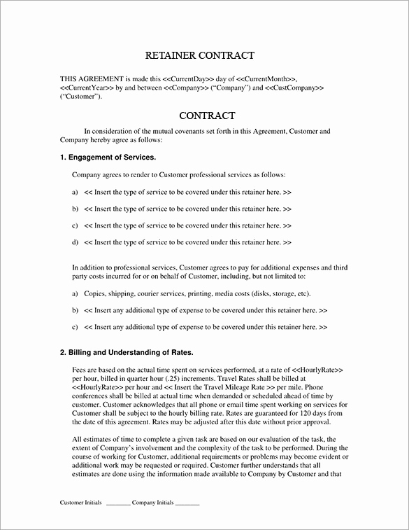 Graphic Design Contract Template Best Of Graphic Design Retainer Contract Template Download Bonsai
