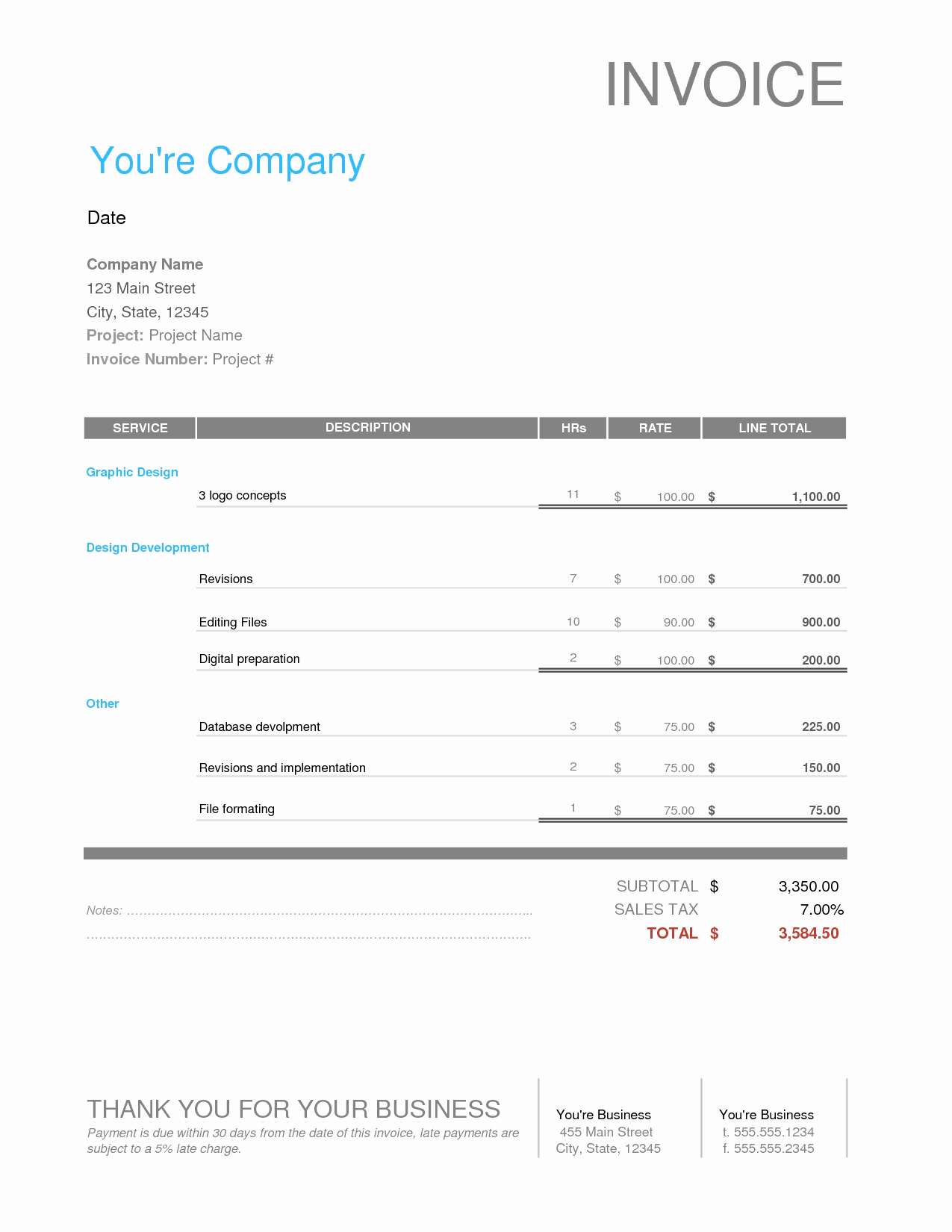 Graphic Design Contract Template Lovely Graphic Designer Invoice Template