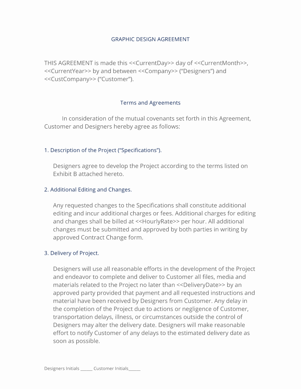 Graphic Design Contract Template Luxury Graphic Design Contract 3 Easy Steps