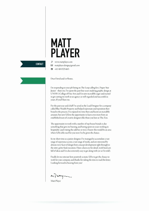 Graphic Design Cover Letter Examples Beautiful Graphic Design Cover Letters