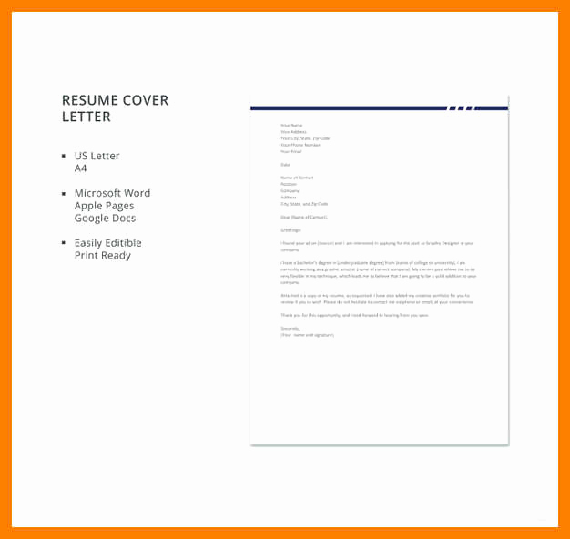 Graphic Design Cover Letter Examples Lovely 7 8 Graphic Design Cover Letter Sample Pdf