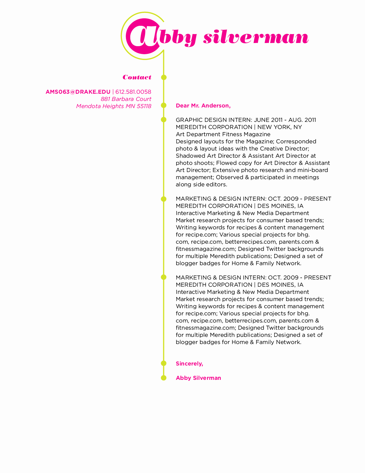 Graphic Design Cover Letter Examples Luxury Resume and Cover Letter Development