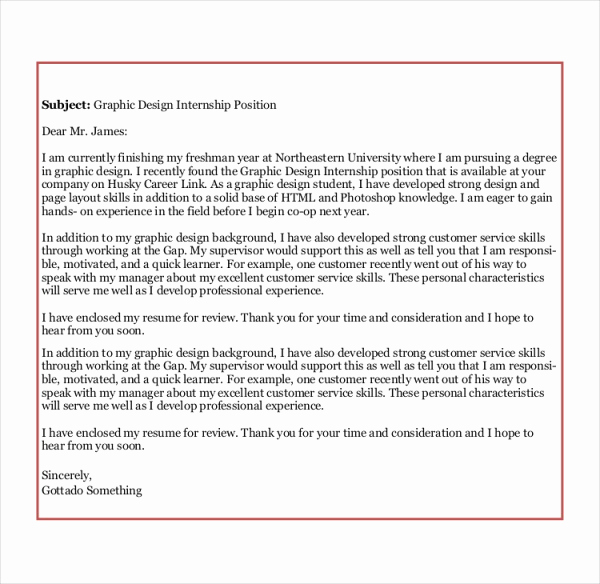 Graphic Design Cover Letter Examples Luxury Sample Graphic Design Cover Letter 8 Examples In Word Pdf