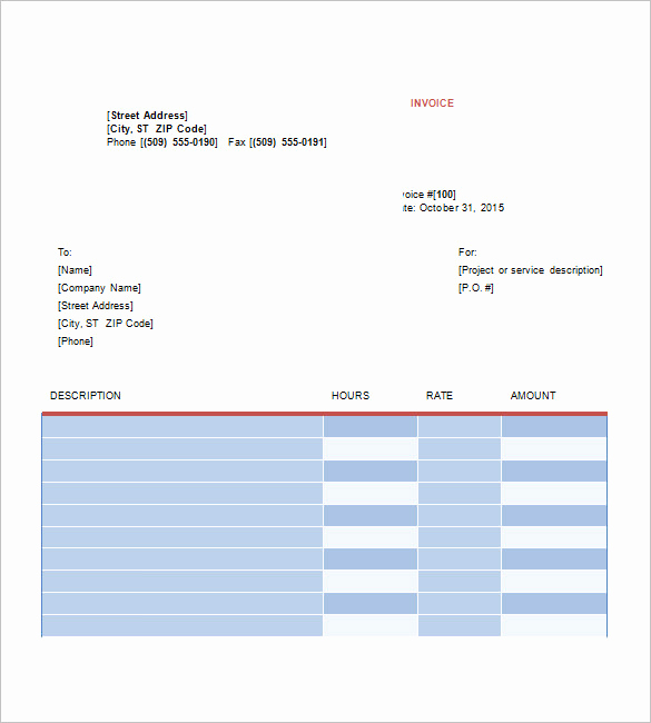 Graphic Design Invoice Template Beautiful Graphic Design Invoice Template 13 Free Word Excel