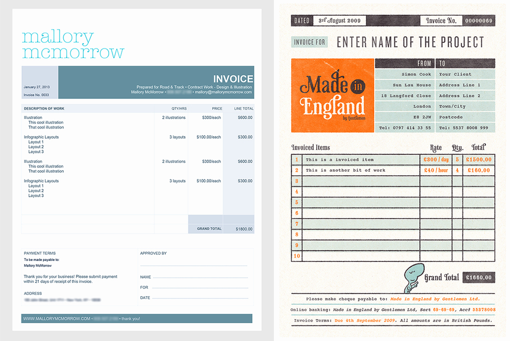 Graphic Design Invoice Template Best Of How to Design A Killer Invoice that Reflects Your Style
