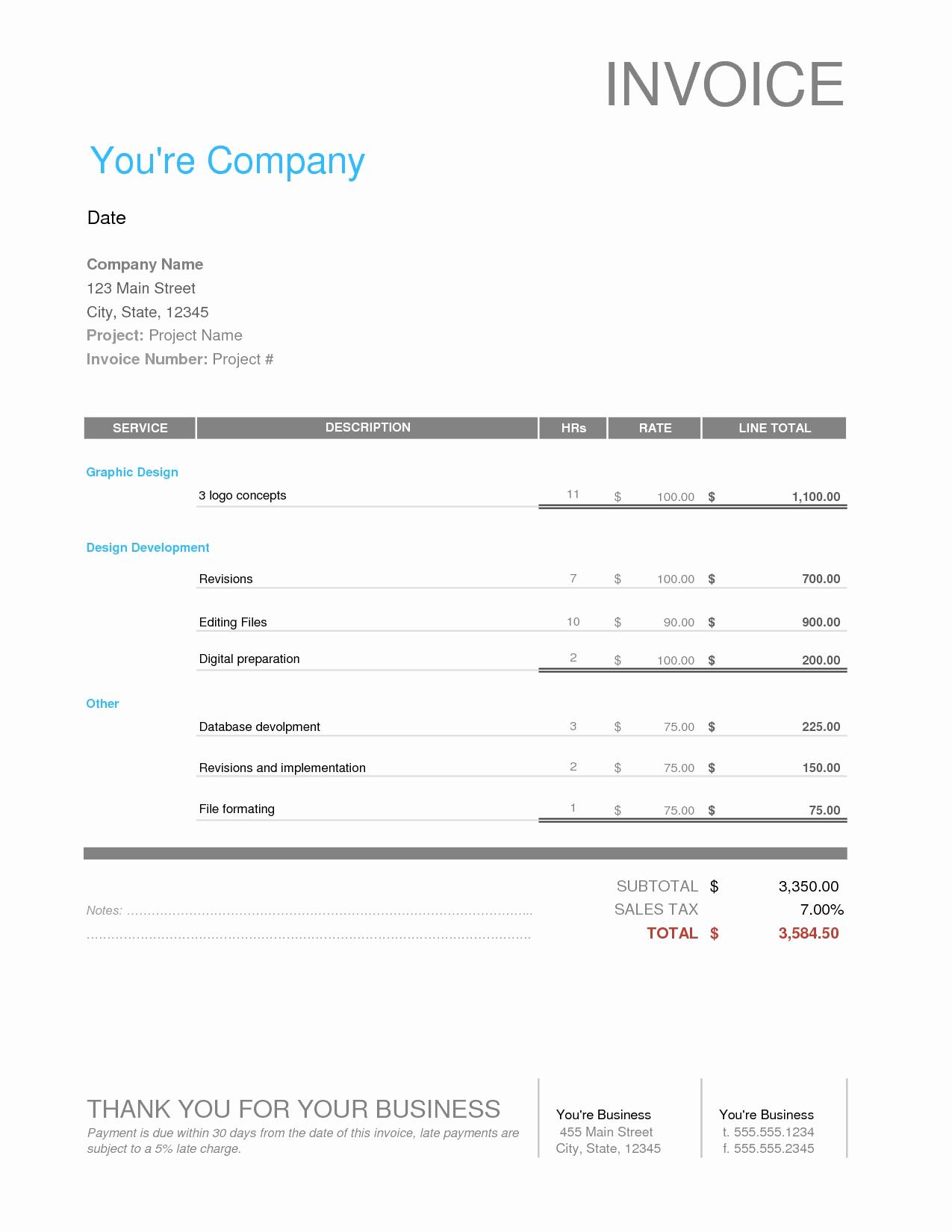 Graphic Design Invoice Template Elegant Graphic Design Freelance Invoice Invoice Template Ideas