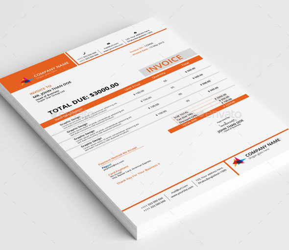 Graphic Design Invoice Template Fresh 37 Best Psd Invoice Templates for Freelancer