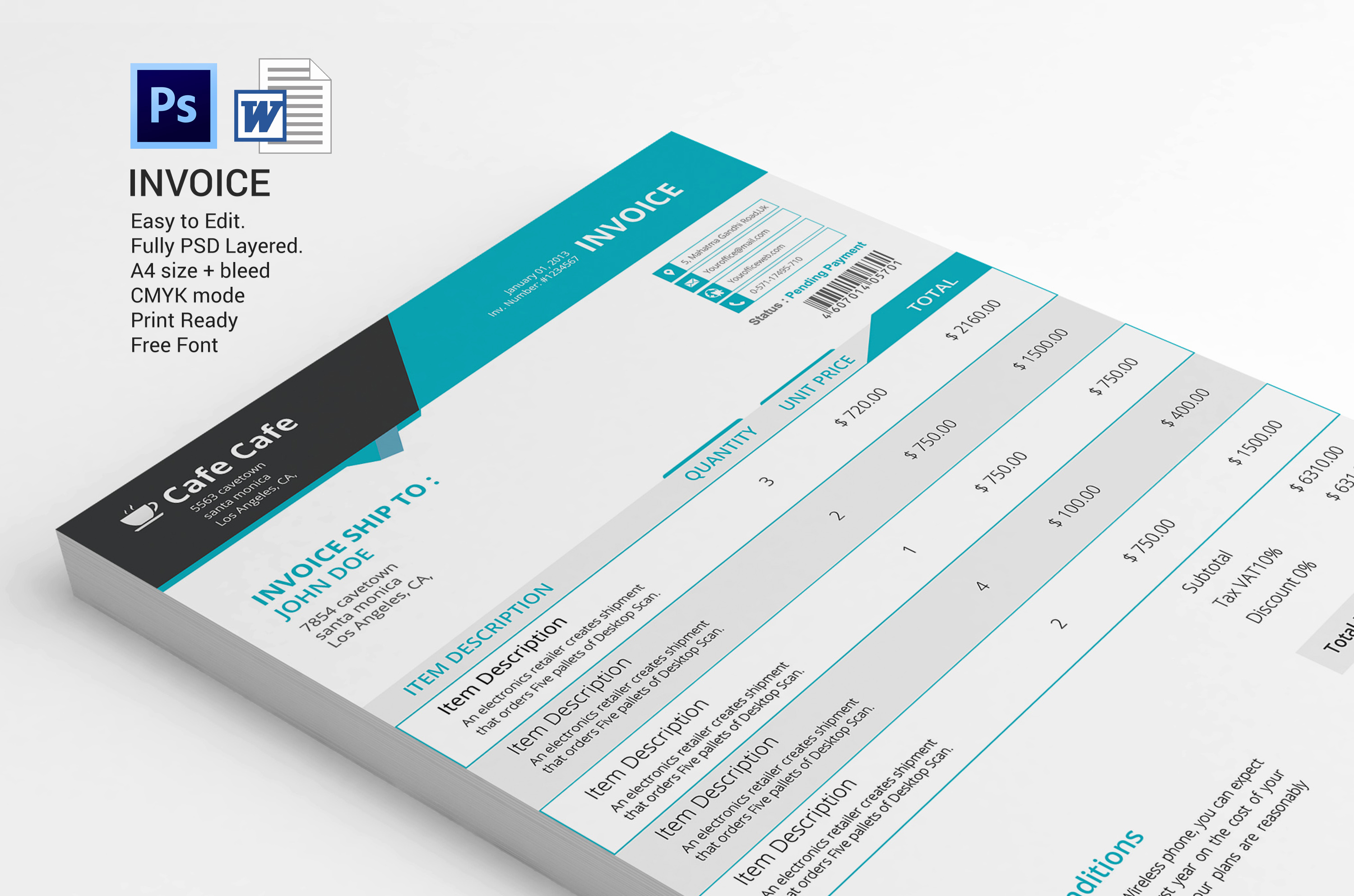 Graphic Design Invoice Template Lovely Business Invoice Template Stationery Templates On