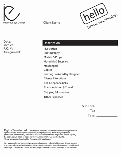Graphic Design Invoice Template Luxury Design An Invoice that Practically Pays Itself — Sitepoint