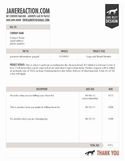 Graphic Design Invoice Template Luxury Invoice Graphic Design Pinterest