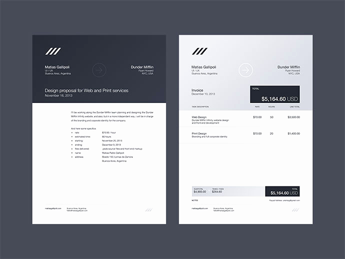Graphic Design Invoice Template New 35 Striking Invoice Designs Web & Graphic Design