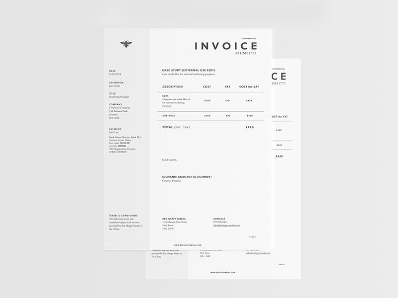 Graphic Design Invoice Template New 6 Free Graphic Design Invoice Templates