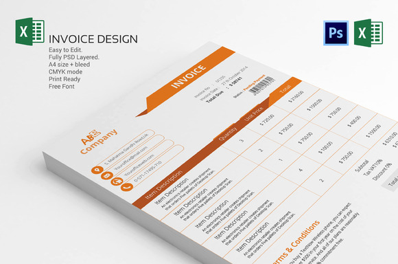Graphic Design Invoice Template New Invoice Template Design Stationery Templates On Creative