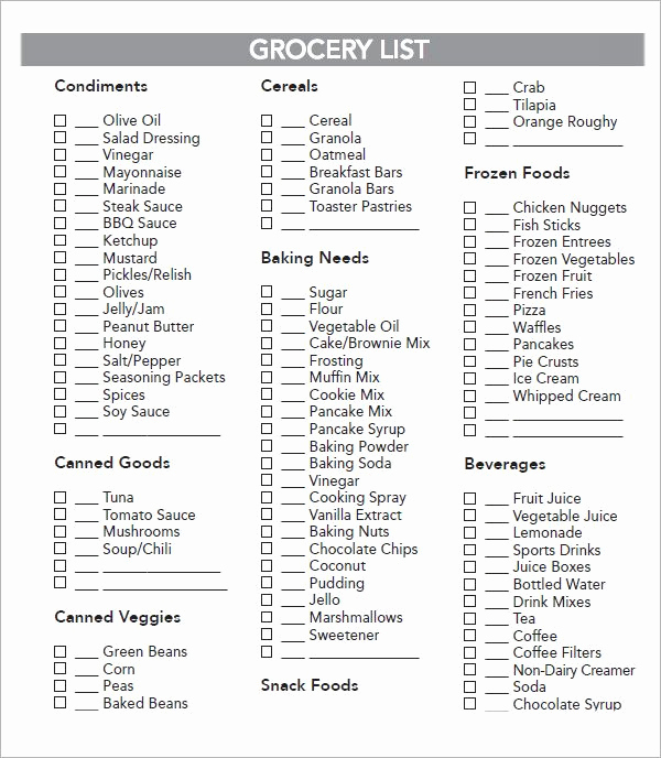 Grocery List Template Excel Best Of Best 25 Grocery List Templates Ideas On Pinterest
