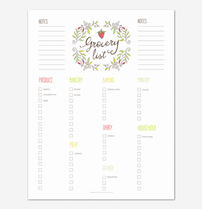 Grocery List Template Excel Fresh Grocery List Template 16 Shopping Lists Excel Word Pdf
