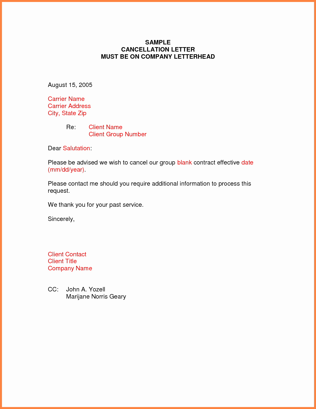 Gym Membership Cancellation Letter Lovely 9 Cancellation Notices Examples