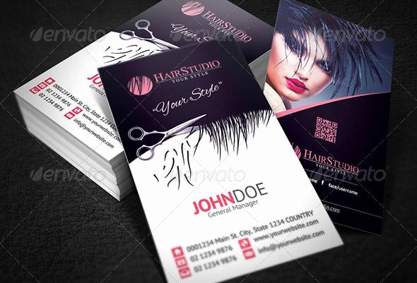 Hair Salon Business Cards Elegant 15 Hair Salon Business Card Psds