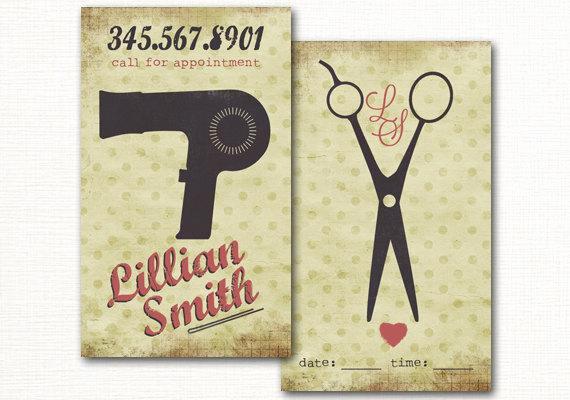Hair Salon Business Cards Elegant Hair Salon Business Card Premade Hair Stylist Business Card