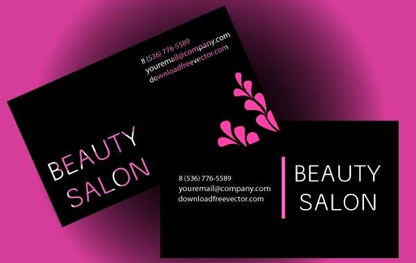 Hair Salon Business Cards Lovely Beauty Salon Business Card Vector