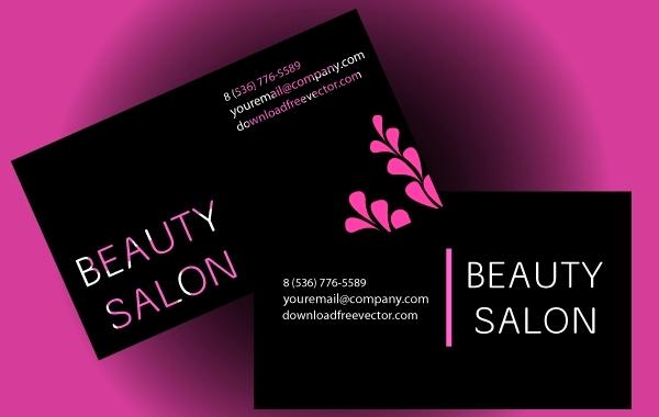 Hair Salon Business Cards Unique Beauty Salon Business Card Vector