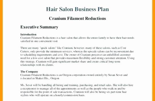 Hair Salon Business Plan Best Of Business Plan for Beauty Salon Hair and Beauty Salon