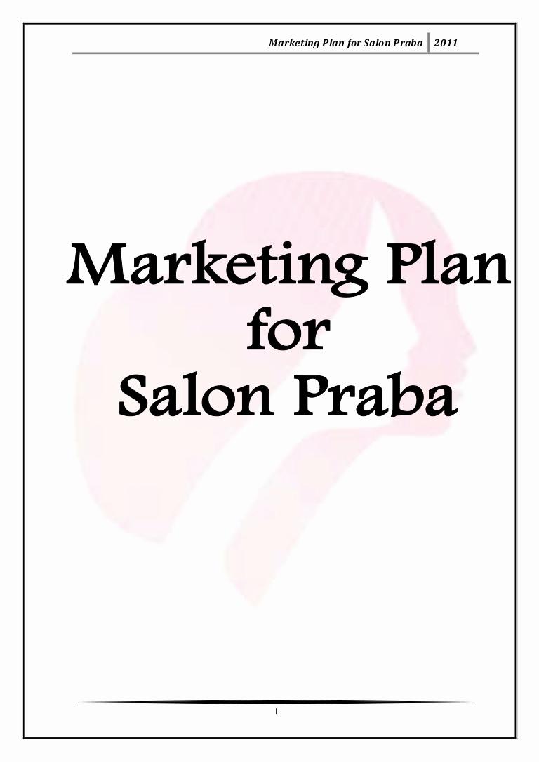 Hair Salon Business Plans Lovely Marketing Plan for Salon Praba