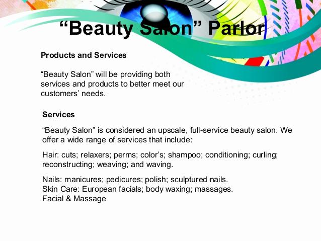 "Hair Salon Business Plans New Business Plan Presentation "" Beauty Salon Parlor"