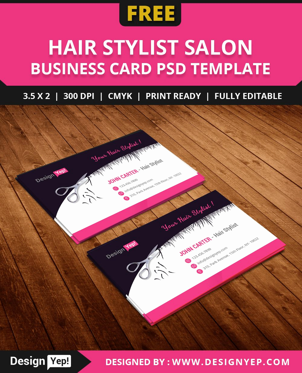 Hair Salons Business Cards Best Of Free Hair Stylist Salon Business Card Template Psd