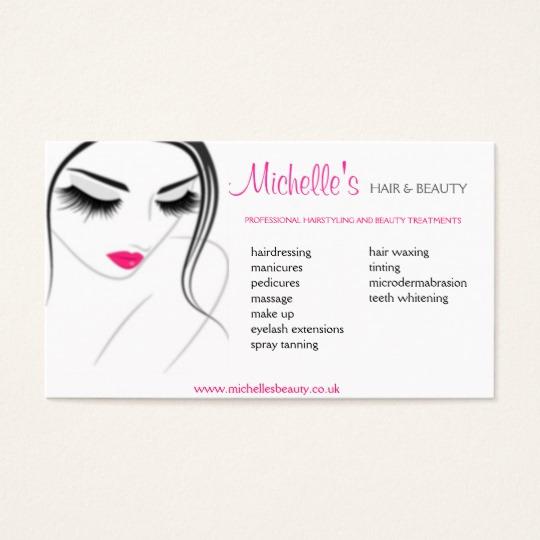 Hair Salons Business Cards Inspirational Hair & Beauty Salon Business Card Design