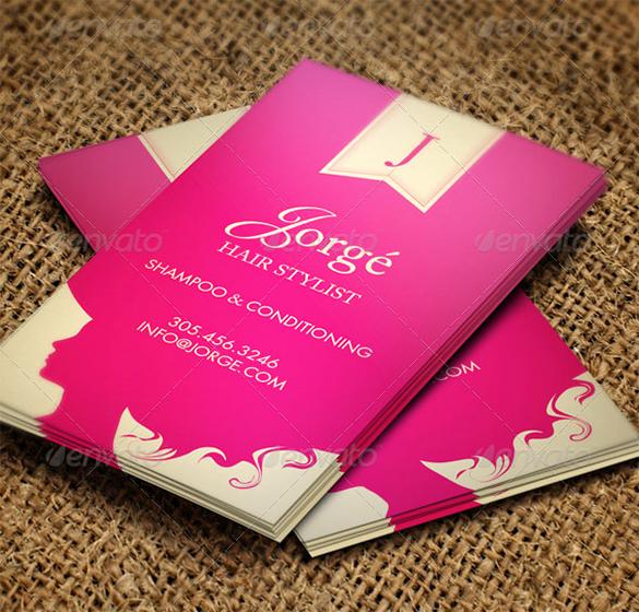 Hair Salons Business Cards Luxury 41 Hair Stylist Business Card Templates Ai Psd Word