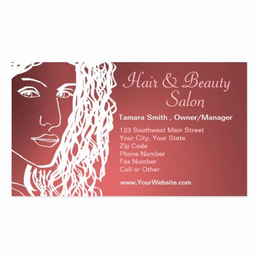 Hair Salons Business Cards New Hair & Beauty Salon Business Card Templates