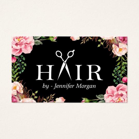 Hair Salons Business Cards Unique Floral Hair Stylist Logo Beauty Salon Appointment Business
