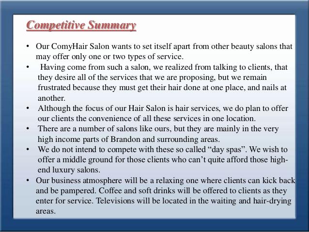 Hair Saloon Business Plan Elegant Business Plan for Style Park Hair Saloon