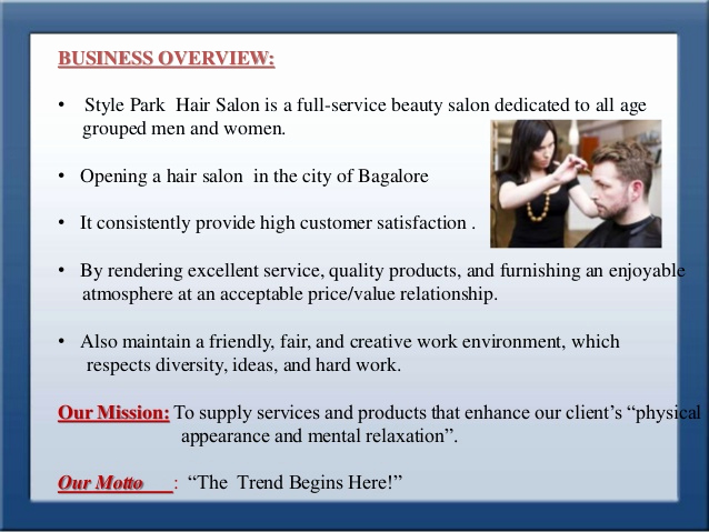Hair Saloon Business Plan New Business Plan for Style Park Hair Saloon