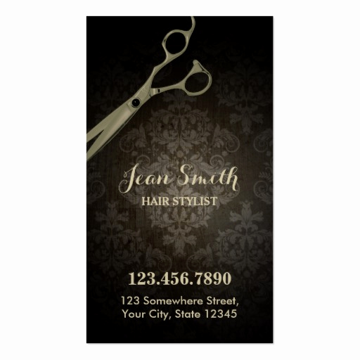 Hair Stylist Business Cards Awesome Vintage Scissor Damask Hair Stylist Business Card