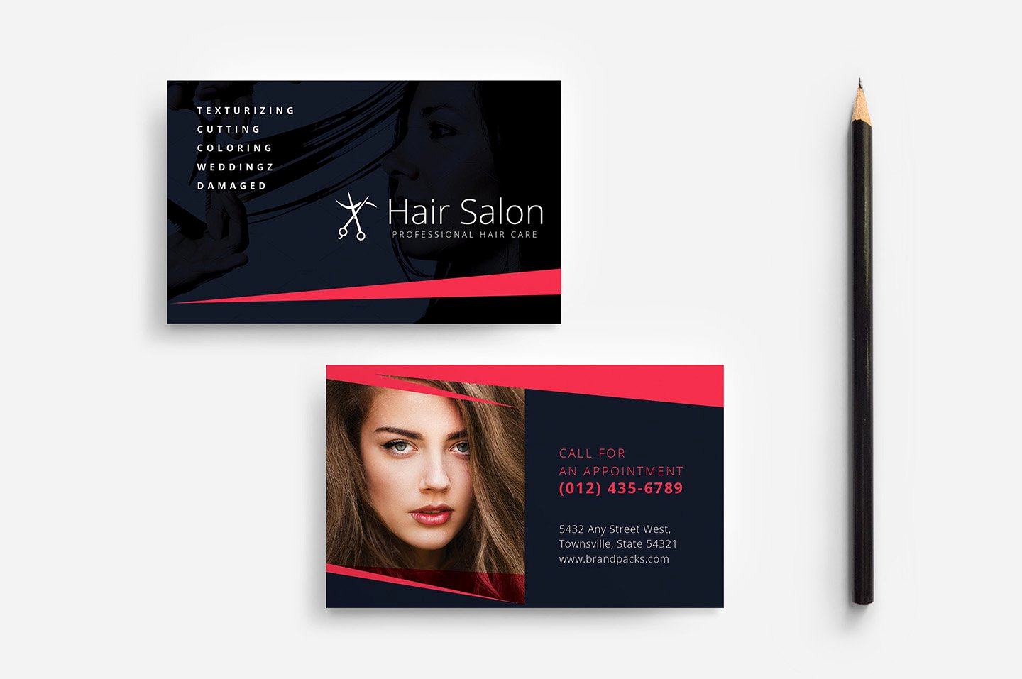 Hair Stylist Business Cards Beautiful Hair Salon Business Card Template Business Card